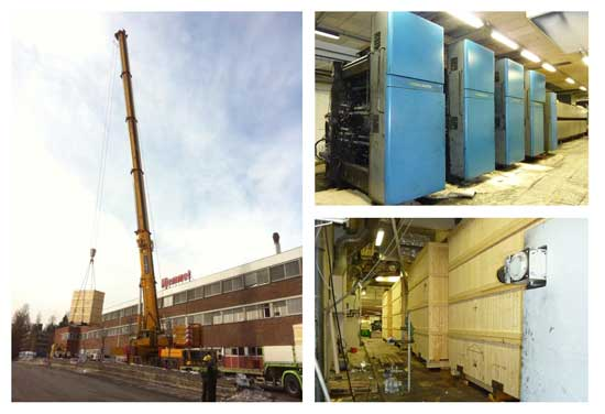 Moving a heatset printing facility from Oslo to Norway
