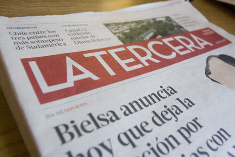 La Tercera newspaper on new press