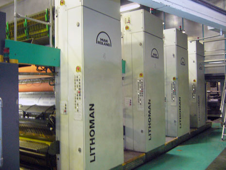 Used Lithoman 72 page printing press (2006)
